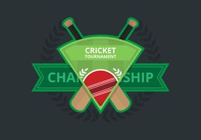 Illustrazione di logo del cricket