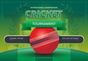 Logo di cricket e illustrazione di battaglia del torneo