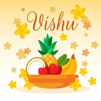 Vishu Flower Card Vector