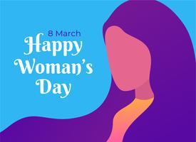 Feliz dia de la mujer vector