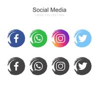 Popular colección de logos de redes sociales