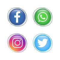 Populaire Social Media-logoverzameling