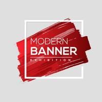 Moderne banner van verfborstel