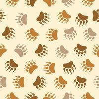 bear footprint seamless pattern, repeating camping theme