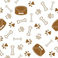 dog seamless pattern theme, bone, paw foot print for use as wallpaper or background vector