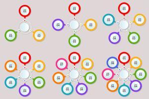Infographikvorlage für Schritte oder Arbeitsablaufdiagramme 3-8