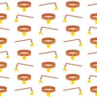 cat seamless pattern theme, cat a pole and collar