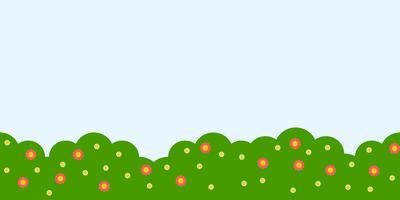 repeat background, garden landscape theme flat design
