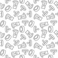 ícone de contorno de cão sem costura padrão-los para uso como papel de embrulho