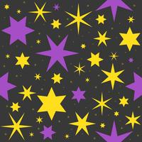 halloween background magic star theme vector