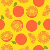 orange retro style, seamless pattern for wallpaper or wrapping paper