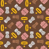 cat and dog theme,seamless pattern for wallpaper or use as wrapping paper gift