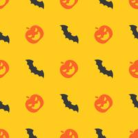 Halloween seamless pattern, bat flying, flat design with clipping mask