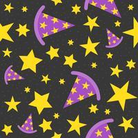 tema de estrela mágica de fundo de dia das bruxas