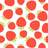 strawberries seamless pattern for wallpaper or wrapping paper vector