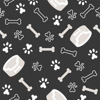 dog seamless pattern theme, bone, paw foot print for use as wallpaper or background