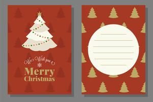 Jul hälsning eller inbjudningskort mall, platt design