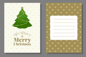 Modèle de carte de voeux ou d'invitation de Noël, design plat