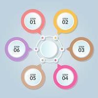 Modèle d'infographie de connexion de cercle à utiliser dans l'affiche du diagramme de flux de travail