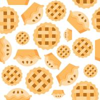 Pie Seamless pattern bakery product flat design