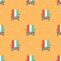 Beach chair seamless pattern for use as wrapping paper gift