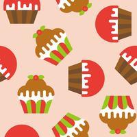 Cupcake sömlöst mönster för användning som bakgrund eller omslagspapper