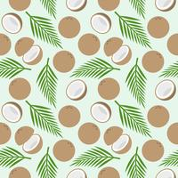 coconut seamless pattern, island theme for wallpaper or wrapping paper