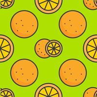 contour rempli orange modèle sans couture, fond de thème de l'été