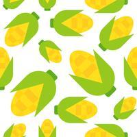 Corn seamless pattern, flat style