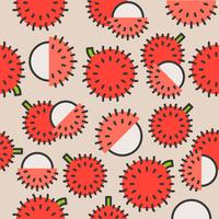 Rambutan seamless pattern for wallpaper or wrapping paper vector