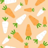 Carrot and white radish Seamless pattern