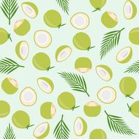 kokosnöt sömlöst mönster, ö tema för tapeter eller papper