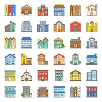 building construction filled outline icon set 2/3