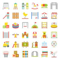 Toys, Playground and rides icon, flat design