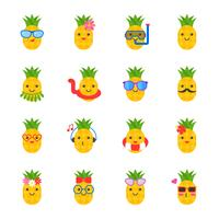 cute pineapple with face in summer beach theme such as swim ring