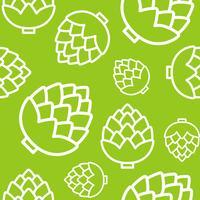 Artichokes seamless pattern, outline vegetable wallpaper
