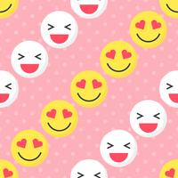 Emoticon seamless pattern, flat design for use as wallpaper or background vector