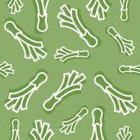Spring onion line with shadow seamless pattern