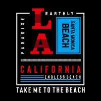 T-shirt californie, los-angeles, conception, typographie