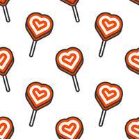 Lolly hjärtaform, sömlös mönster för användning som tapeter