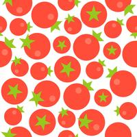 Tomato seamless pattern, flat design for use as wallpaper