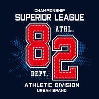 championship sport typography