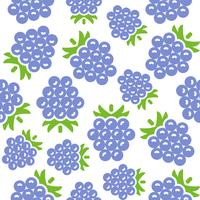 Blackberry seamless pattern for wallpaper or wrapping paper vector