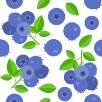 blueberries seamless pattern for wallpaper or wrapping paper vector