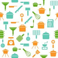 Kitchen utensil seamless pattern vector for wallpaper or wrapping paper