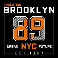 Evolution Brooklyn New York City typography design