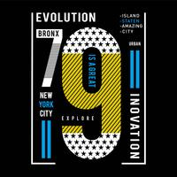 explore new york city typography tee design vector