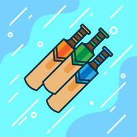 Cricket bat illustration