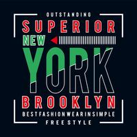fri stil-Brooklyn-typografi-design-tee-t-shirt