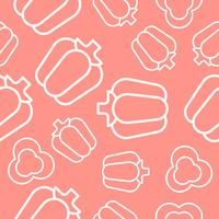 vegetable seamless pattern, bell pepper outline for wallpaper and background
